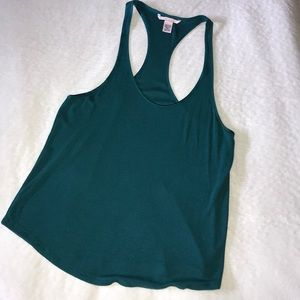 57ac20558bfe47 Victoria s Secret Tops - Victoria Secret Ribbed Sleep Tank Shaded Spruce 💚
